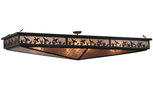 Ducks in Flight Oblong Semi Flush Mount Fixture