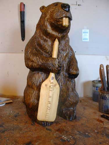 Beaver Chainsaw Carving