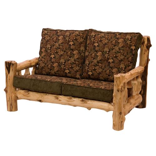 Cedar Log Frame Love Seat