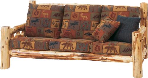 Cedar Log Frame Sofa