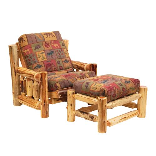 Cedar Futon Chair & Ottoman