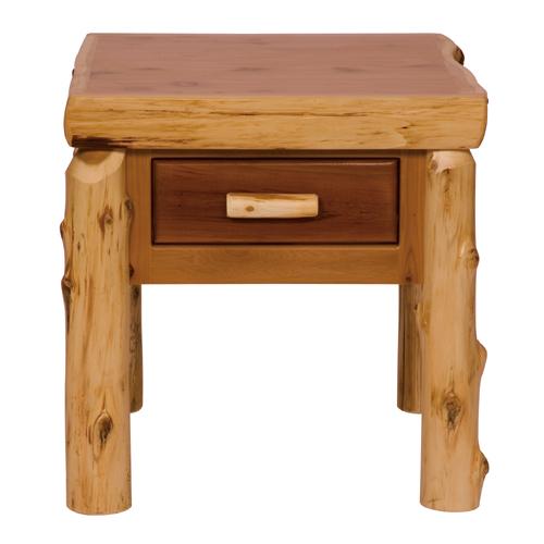 Cedar Drawer End Table