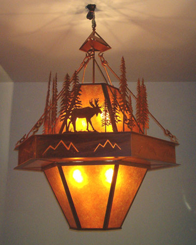 Moose at Dusk Chandelier