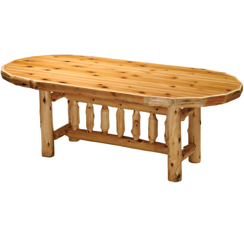 Cedar Oval Dining Table Standard Height