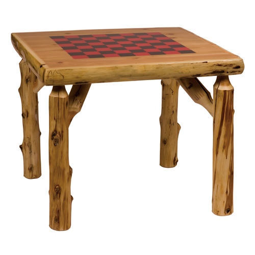 Cedar Game Table