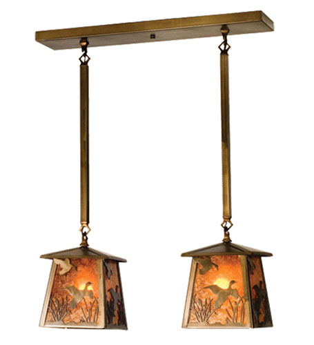 Ducks in Flight Two Light Island Pendant Fixture