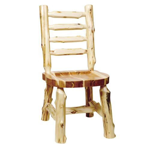 Cedar Ladderback Log Side Chair