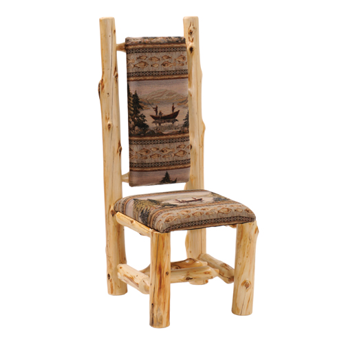 Cedar High Back Upholstered Side Chair