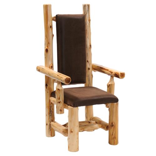 Cedar High Back Upholstered Arm Chair
