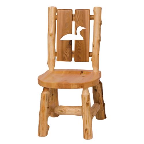 Cedar Cutout Log Chair