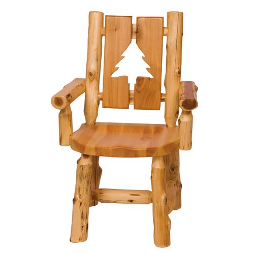 Cedar Cutout Log Arm Chair