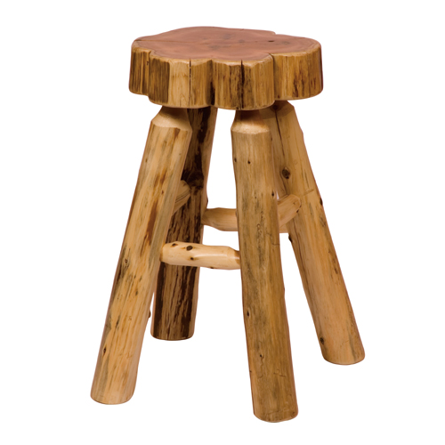 Cedar Slab Barstool