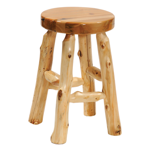Cedar Round Barstool