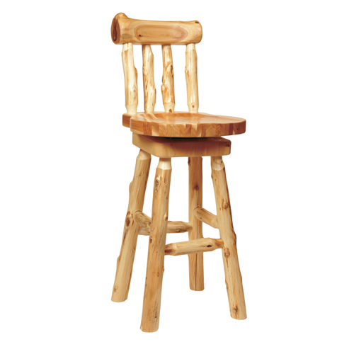 Cedar Log Barstool