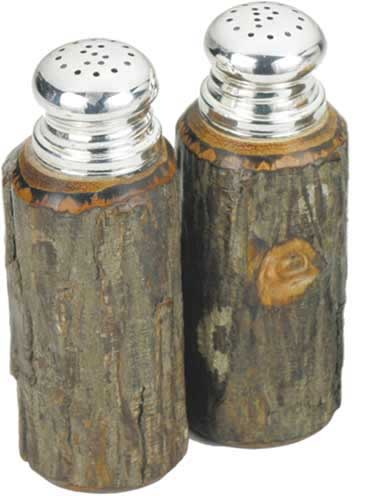 Hickory Salt and Pepper Shakers