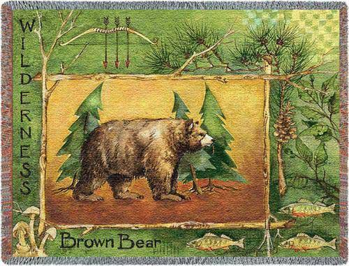 Brown Bear Throw