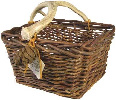 Basket with Antler Handle