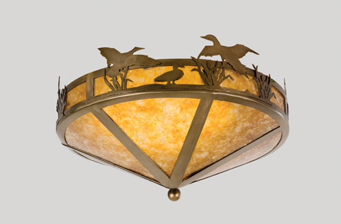 Ducks in Flight Flushmount Light Fixture