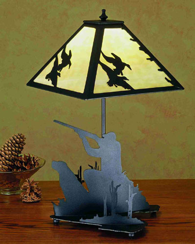 Duck Hunter with Dog Table Lamp