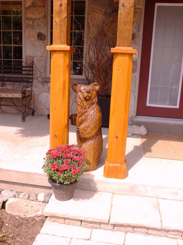 Small Bear Chainsaw Carving
