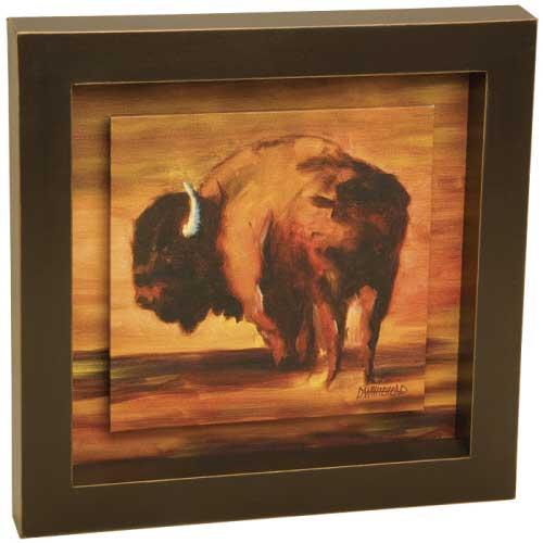Bison Shadow Box