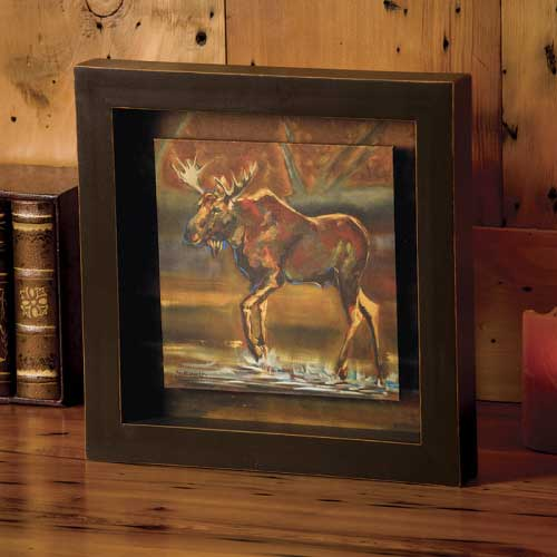 Moose Shadow Box