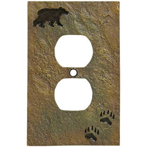 """Bear and Tracks"" Outlet Cover"