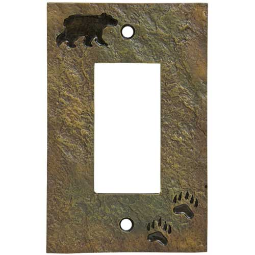 """Bear and Tracks"" Decora Switch Plate Cover"