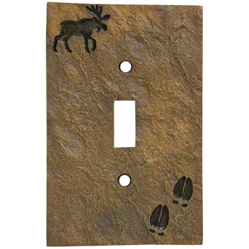 """Moose and Tracks"" Single Switch Plate Cover"