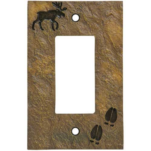 """""""Moose and Tracks"""" Decora Switch Plate Cover"""