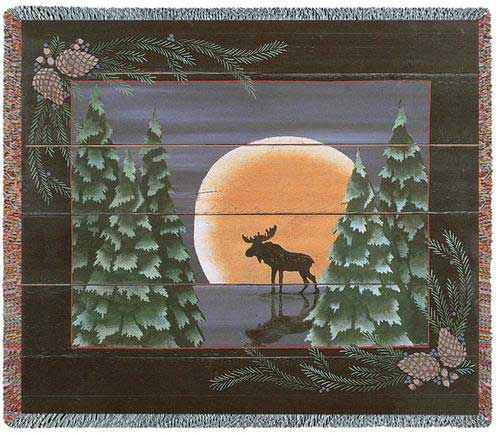 Moonlight Moose Throw