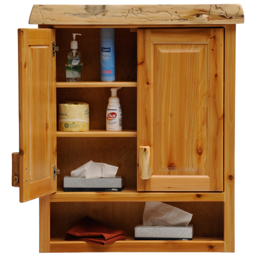 Cedar Toilet Topper Cabinet