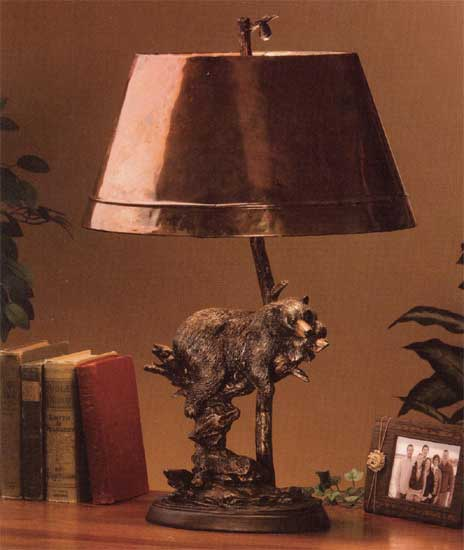 """Bruin Slumber"" Marc Pierce Table Lamp"