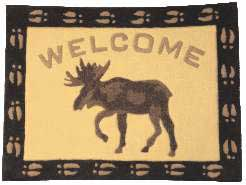 Moose Welcome Rug