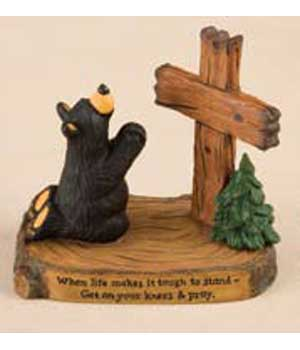 """Pray"" Bearfoots Figurine"