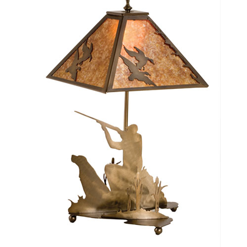 Quail Hunter with Dog Table Lamp