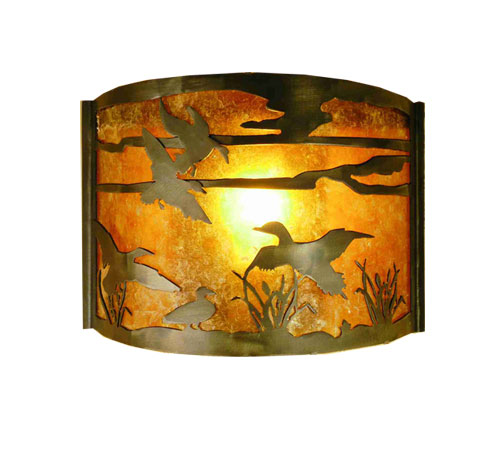 Ducks in Flight Wall Sconce