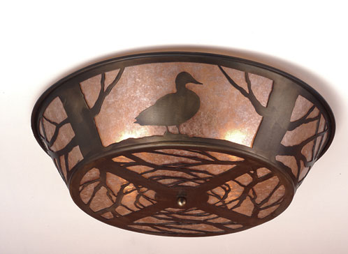 Northwoods Duck Flush Mount Ceiling Fixture