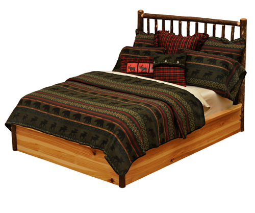 Hickory Platform Bed