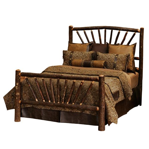 Hickory Sunburst Bed