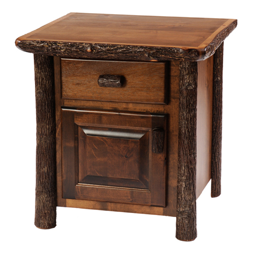 Hickory Enclosed Night Stand