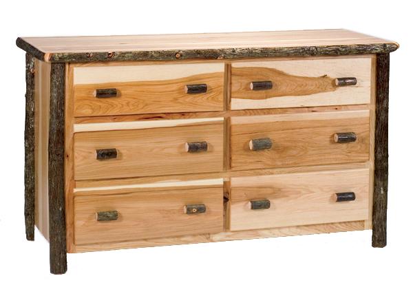Hickory Six Drawer Dresser