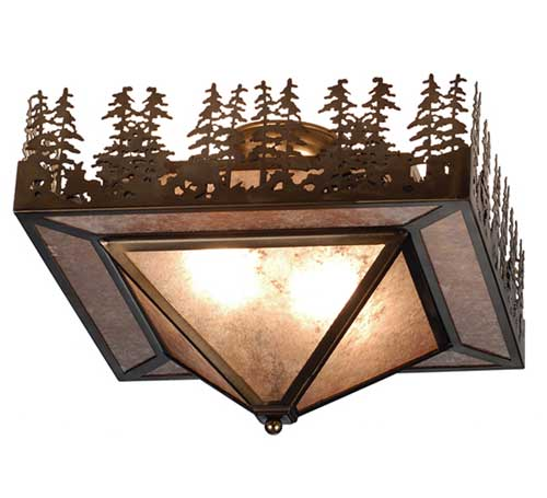 Pine Lake Flush Mount Light Fixture
