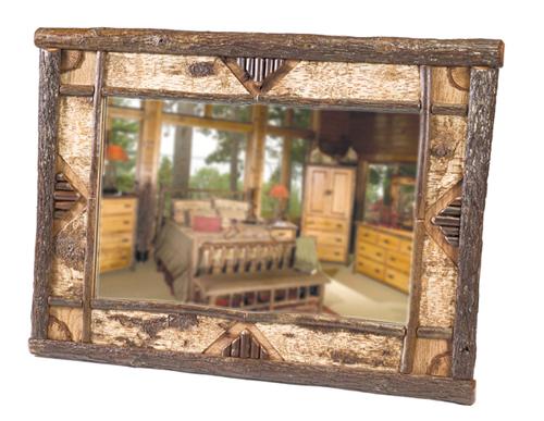 Hickory Adirondack Mirror