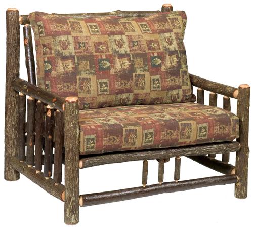 Hickory Log Frame Chair-and-a-Half