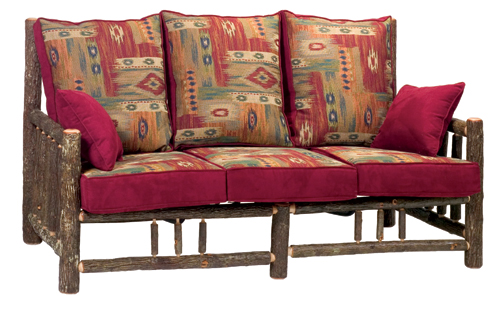 Hickory Log Frame Sofa