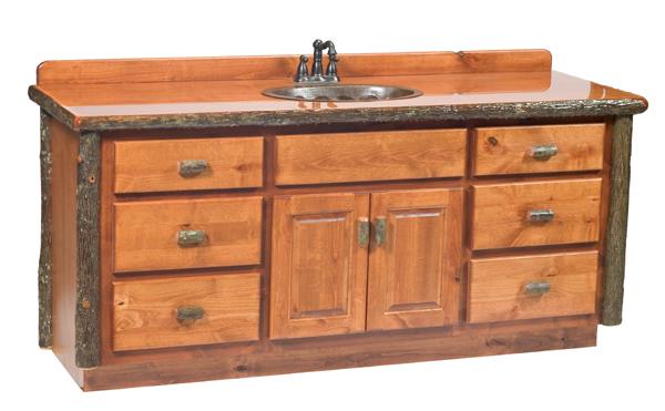 Hickory Bathroom Vanity