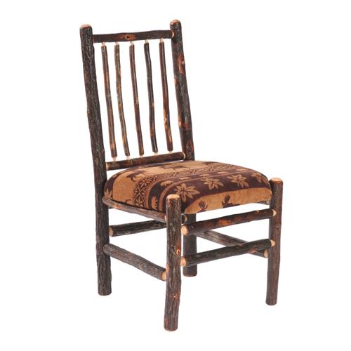 Hickory Upholstered Spoke Back Side Chair