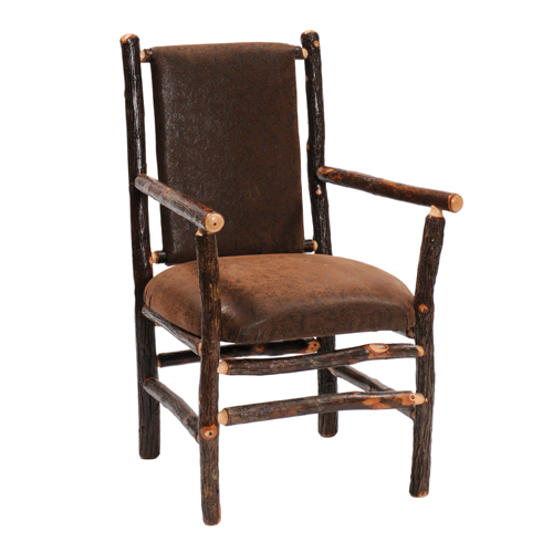 Hickory Upholstered Back Arm Chair