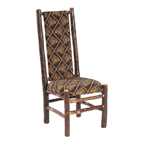 Hickory Upholstered High Back Side Chair